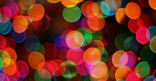 Party Bright Celebration Round Out Christmas Blur