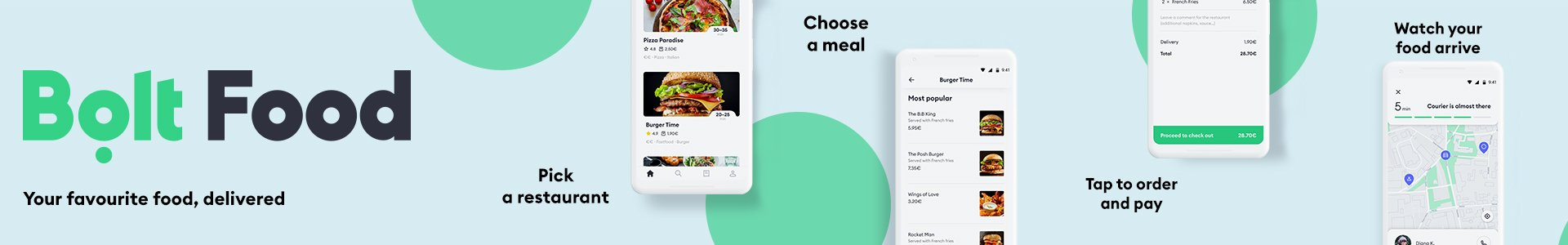 Bolt Food Banner Ad